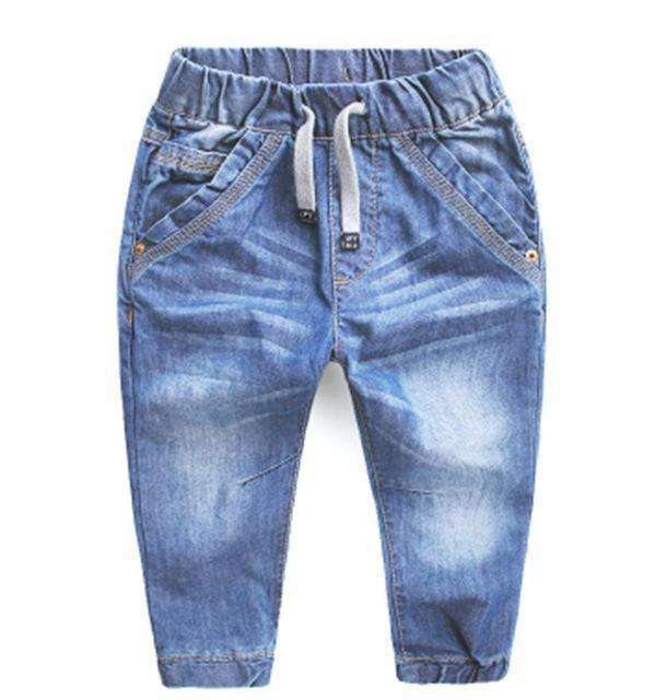 Jeans Blue Trousers Casual Pants Baby Children Pants Sky Blue / 2T