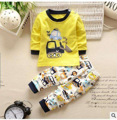 Kids Clothes Spring Toddler Boy Clothing Car / 24M