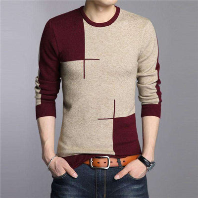 Knitted Cashmere O-Neck Sweater M.sweaters