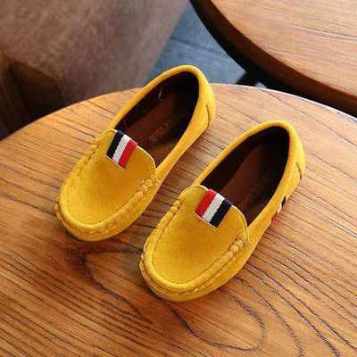 Leather Shoes Kids Casual Flats Yellow / 9