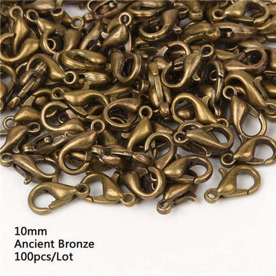 Lobster Clasps Hooks Gold/rhodium For Jewelry 10Mm Ancient Bronze