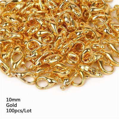 Lobster Clasps Hooks Gold/rhodium For Jewelry 10Mm Gold