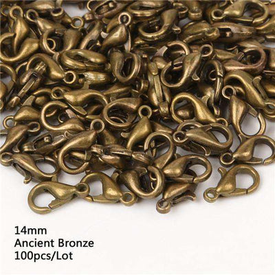 Lobster Clasps Hooks Gold/rhodium For Jewelry 14Mm Ancient Bronze