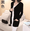 Long Cardigan Lady Cashmere Sweater Black / S W.sweaters