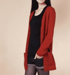 Long Cardigan Lady Cashmere Sweater Rust Red / S W.sweaters