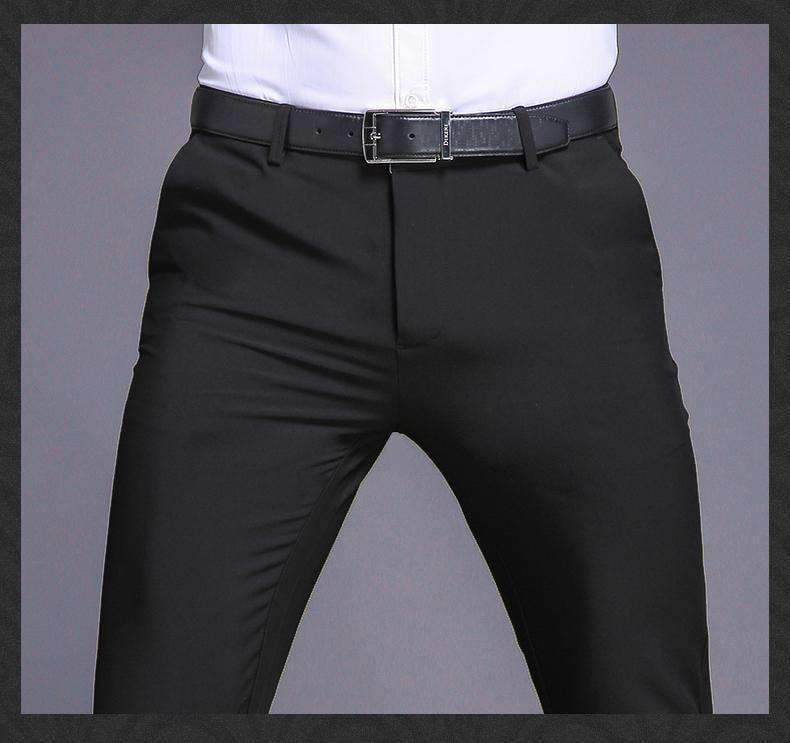 Long Male Classic Business Casual Trousers Black / 29 Casual Pants