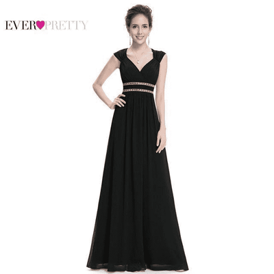 Long Pretty Formal Prom Dress Black / 6 / China Prom Dresses