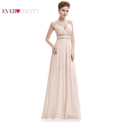 Long Pretty Formal Prom Dress Blush / 6 / China Prom Dresses