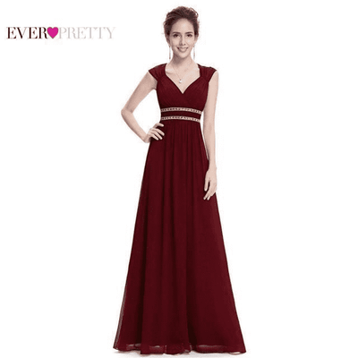 Long Pretty Formal Prom Dress Burgundy / 6 / China Prom Dresses