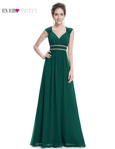 Long Pretty Formal Prom Dress Dark Green / 6 / China Prom Dresses