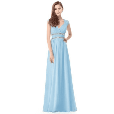 Long Pretty Formal Prom Dress Sky Blue / 6 / China Prom Dresses