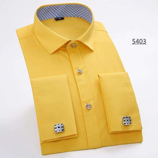 Long Sleeve Casual Slim French Cuff Shirts Shirts