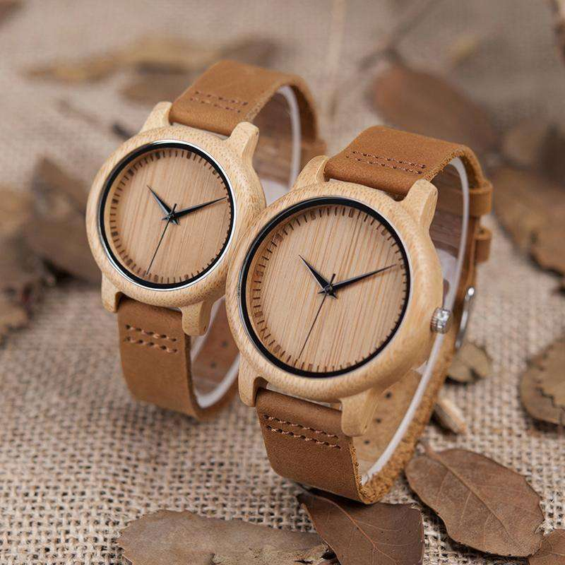 Lover Round Bamboo Wooden Wristwatch Men 43Mm / China