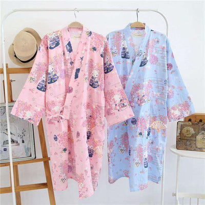 Lovers Simple Japanese Kimono Robes Sleep & Lounge
