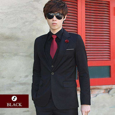 Luxury Men Wedding/work Suit 1 Black / Xs Suits