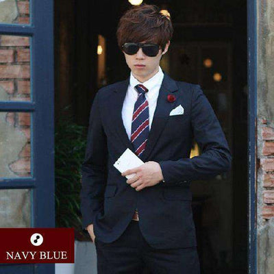 Luxury Men Wedding/work Suit 1 Navy Blue / Xs Suits