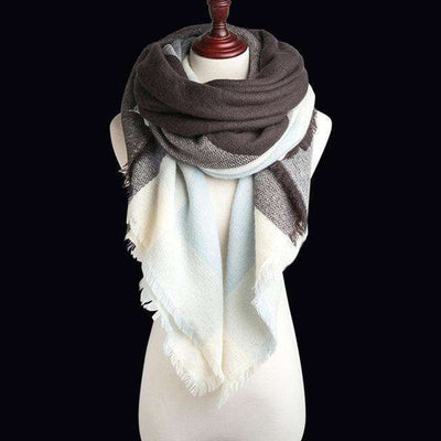Luxury Warm Wrap Plaid Scarf B1 Scarves