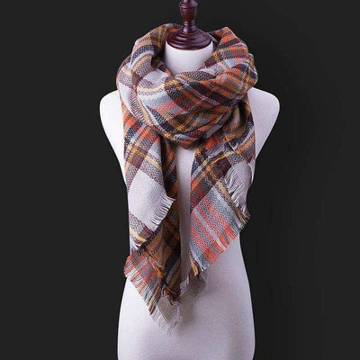 Luxury Warm Wrap Plaid Scarf B10 Scarves