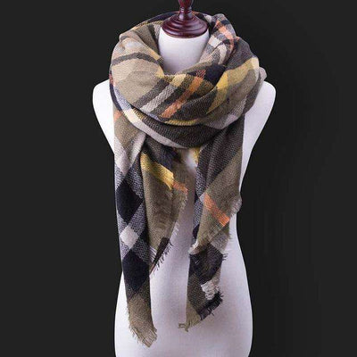 Luxury Warm Wrap Plaid Scarf B11 Scarves