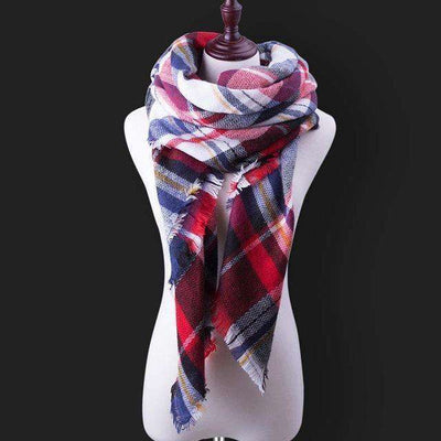 Luxury Warm Wrap Plaid Scarf B12 Scarves