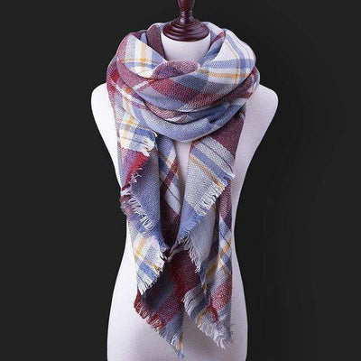 Luxury Warm Wrap Plaid Scarf B13 Scarves