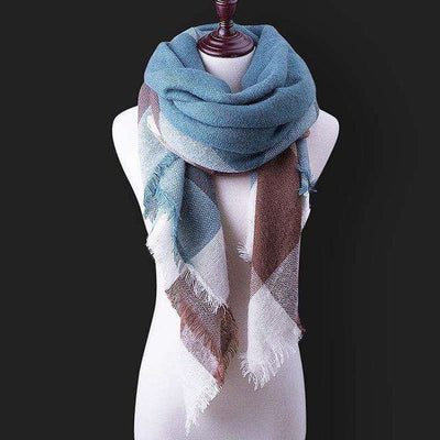 Luxury Warm Wrap Plaid Scarf B14 Scarves