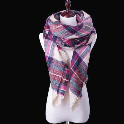 Luxury Warm Wrap Plaid Scarf B22 Scarves