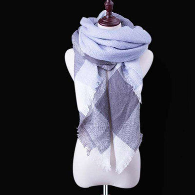 Luxury Warm Wrap Plaid Scarf B26 Scarves