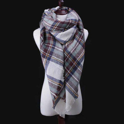 Luxury Warm Wrap Plaid Scarf B4 Scarves