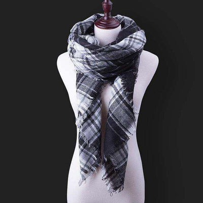 Luxury Warm Wrap Plaid Scarf B8 Scarves