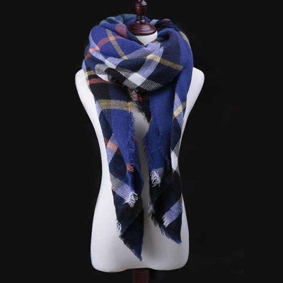 Luxury Warm Wrap Plaid Scarf Scarves
