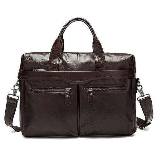 Men Bag Genuine Leather Bag Men Cross Body Bags 9005Brown / China