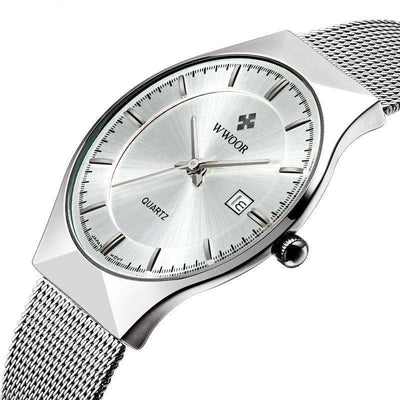 Men Brand Mens Watches Ultra Thin Stainless Steel