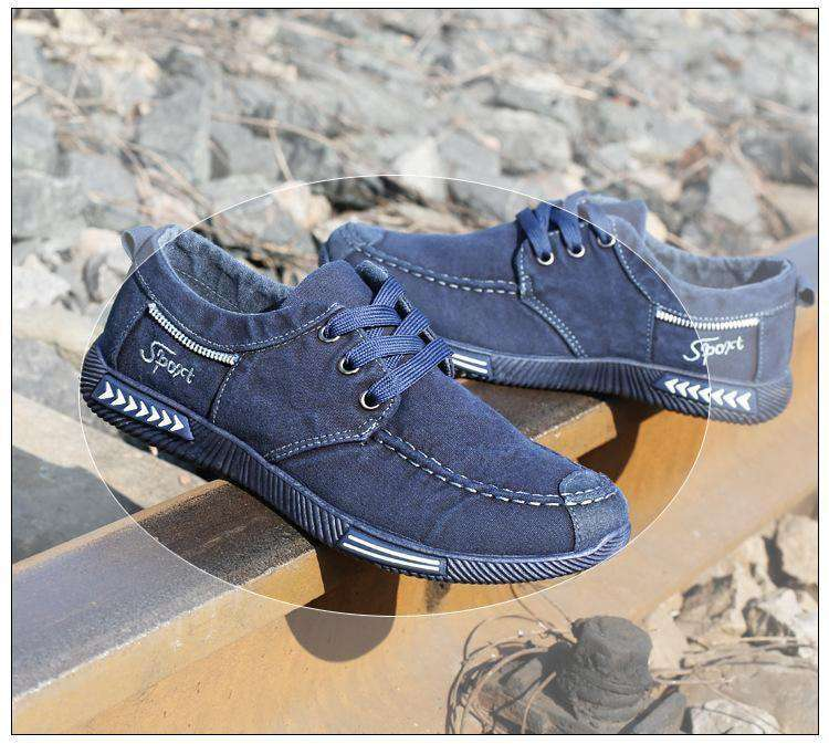Men Shoes Denim Lace-Up Men Casual Shoes Footwear Spring Autumn