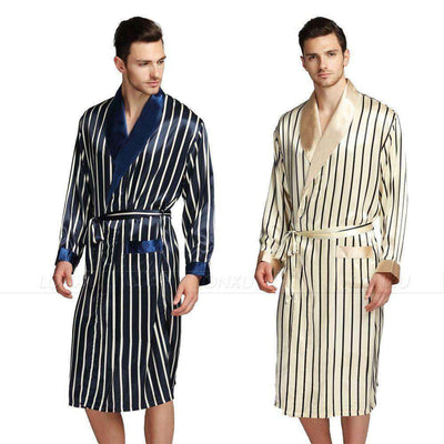 Mens Silk Satin Pajamas Robes