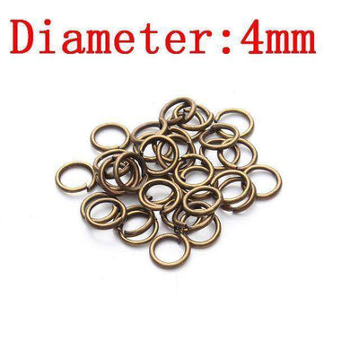 Metal Jump Rings Silver/gold/bronze Color Split Rings Antique Bronze