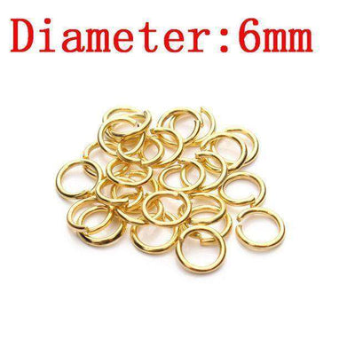 Metal Jump Rings Silver/gold/bronze Color Split Rings Gold 1