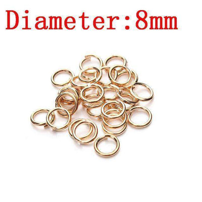 Metal Jump Rings Silver/gold/bronze Color Split Rings Rose Gold 2