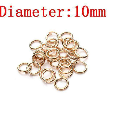Metal Jump Rings Silver/gold/bronze Color Split Rings Rose Gold 3