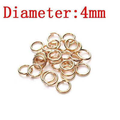 Metal Jump Rings Silver/gold/bronze Color Split Rings Rose Gold