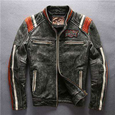 Motorcycle Rider Leather Jacket Leather