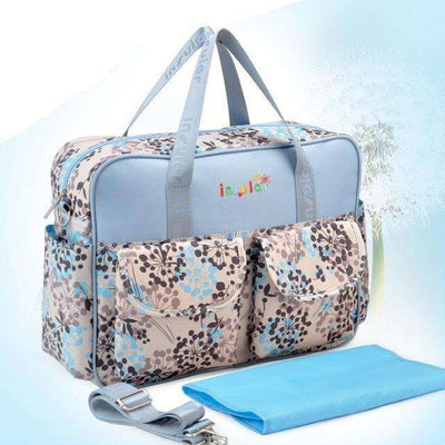 Multicolored Baby Diaper Bag Large-Capacity Style 2