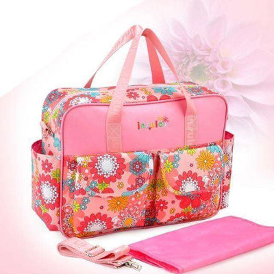 Multicolored Baby Diaper Bag Large-Capacity Style 4