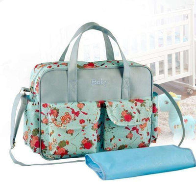 Multicolored Baby Diaper Bag Large-Capacity Style 7