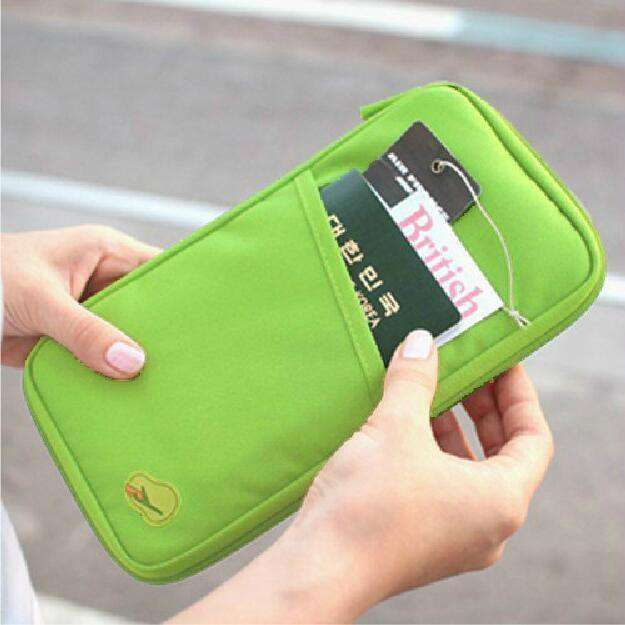 Multifunction Travel Passport Cover Wallet Rose Red