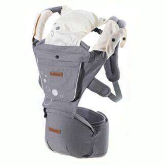 New Born Baby Carriage Hipseat Sling Wrap Summer And Winter Gray