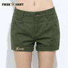 New Fashion Casual Cotton Shorts Army Green / 26 W.shorts