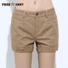 New Fashion Casual Cotton Shorts Yellow / 26 W.shorts