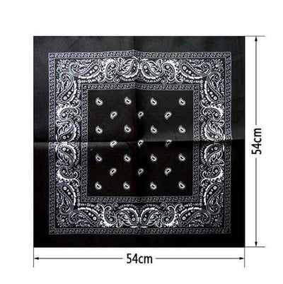 New Hip-Hop Cotton Blended Scarves Black Accessories