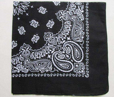 New Hot Sales 100% Cotton Printed Bandanas Black Accessories